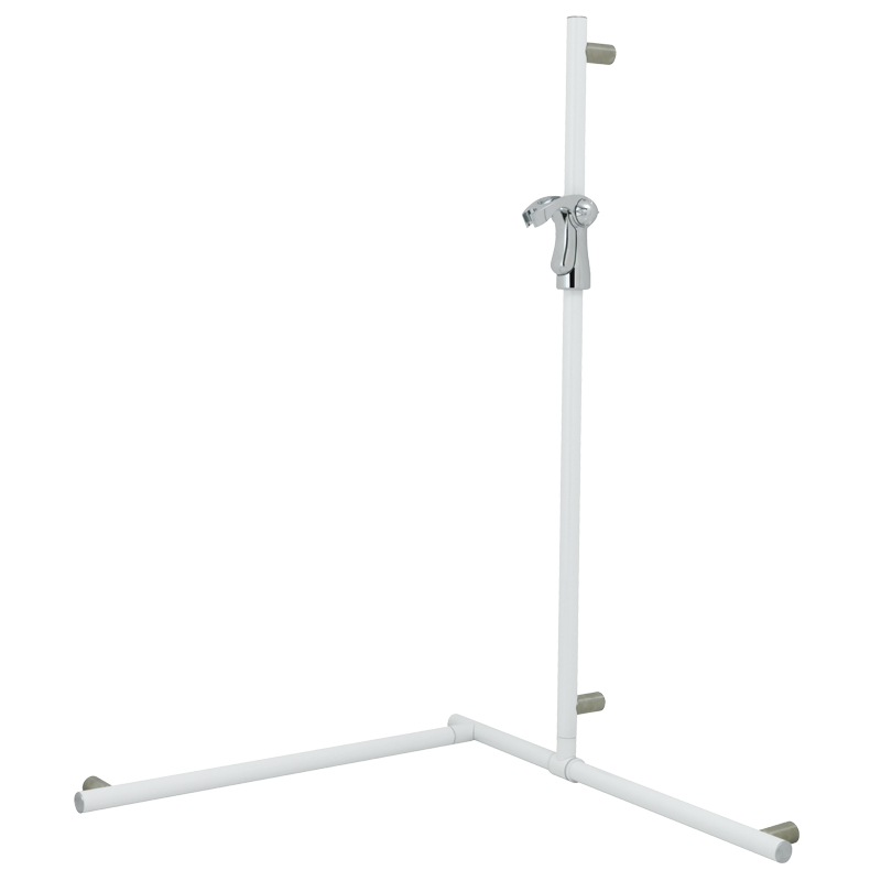 Flangeless safety corner grab rail with adjustable vertical slider rail