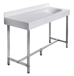 Wash basin top/baby changing unit on freestanding structure - B46EDR03