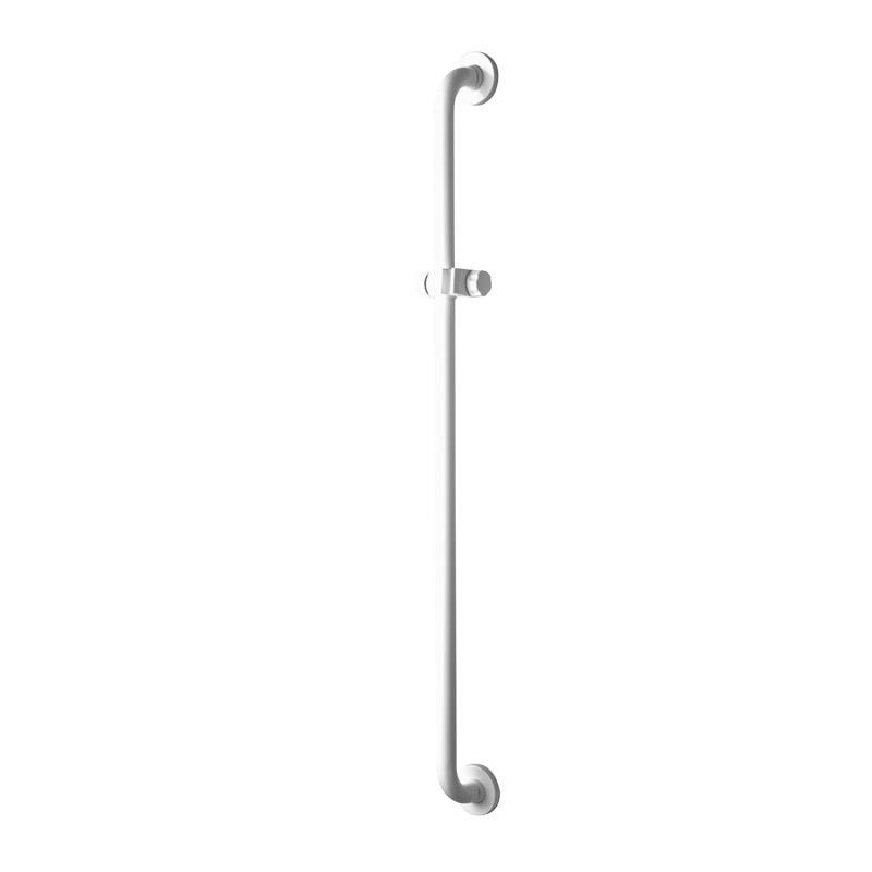 Draw Vertical saferty shower grab bar equipped with adjustable hand shower holder G06JOS01