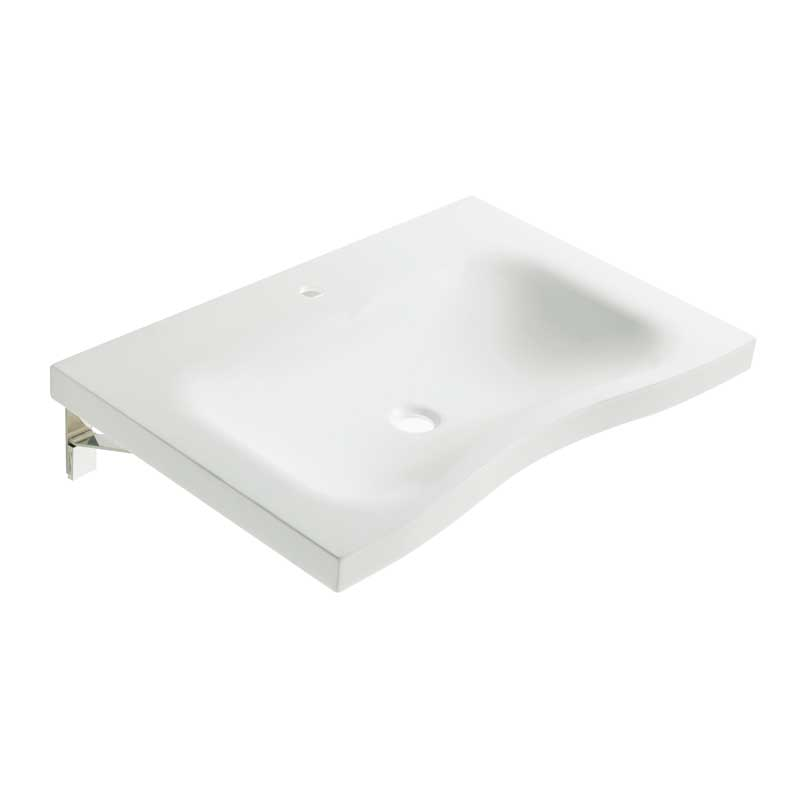 Draw Designer basin with integral hand pull B46CNM06