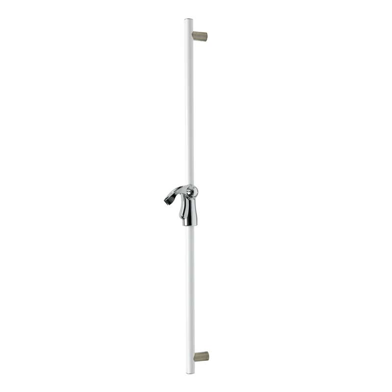 Straight grab bar with hand shower holder