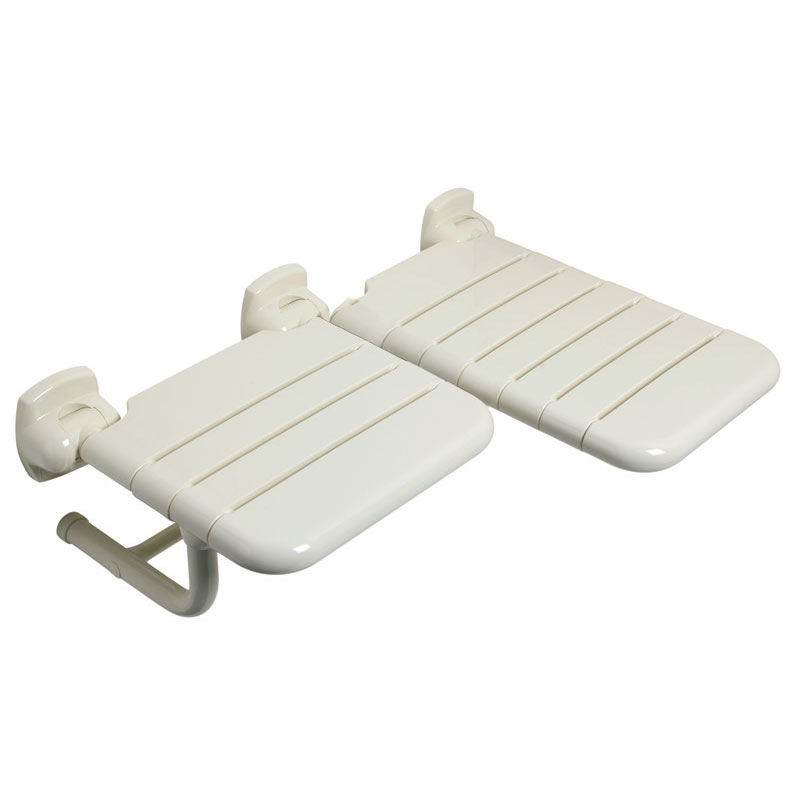 L-shaped doublle folding shower seat
