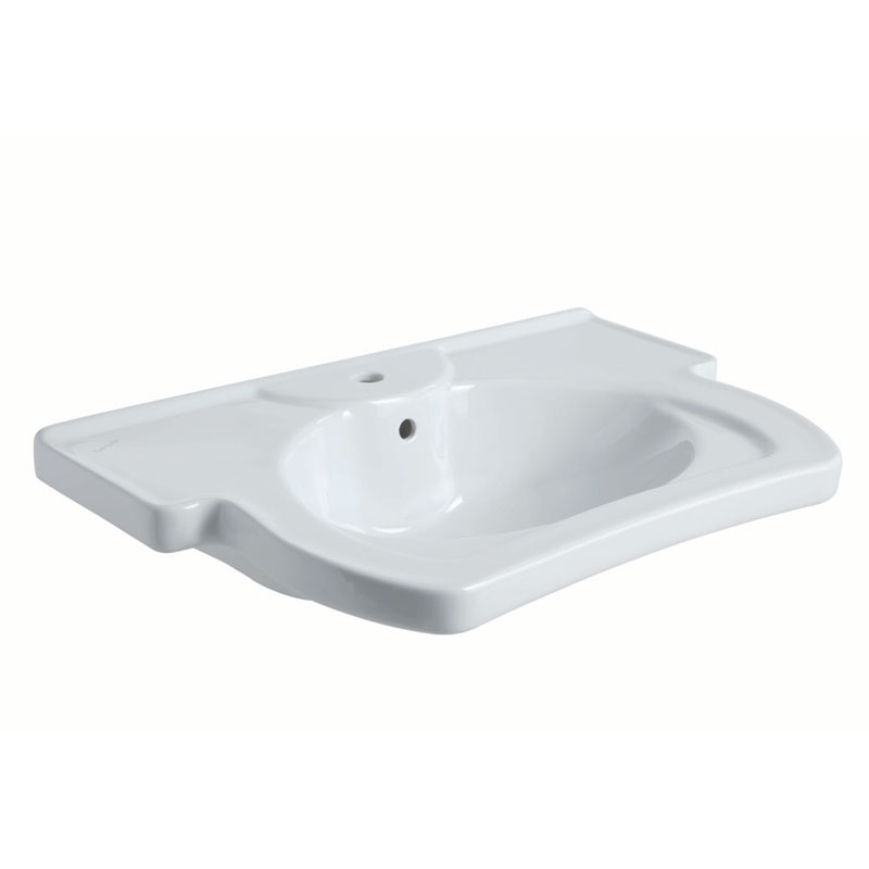Ergonomic sink with elbow rest