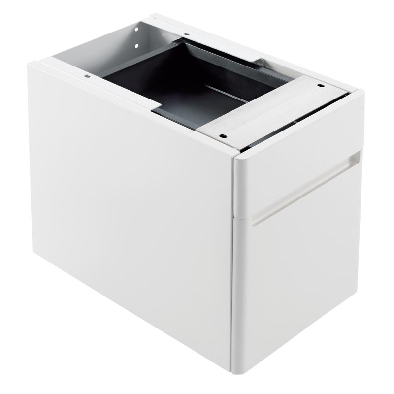 Drawers for under-top basin installation
