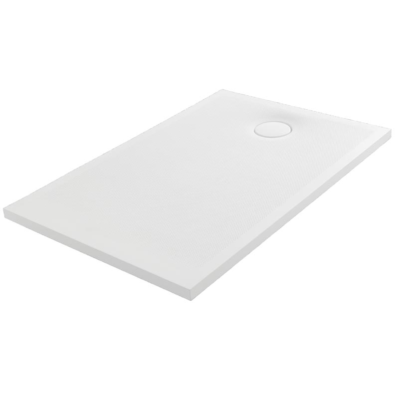 Rectangular shower tray, wtih rilief dotted surface