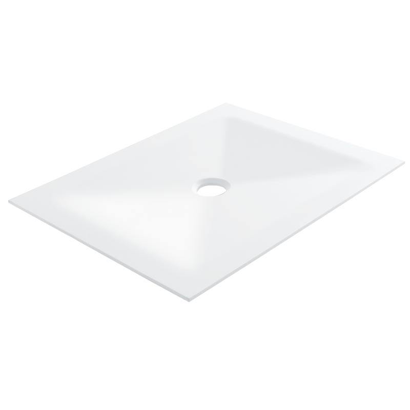 Squared shower tray