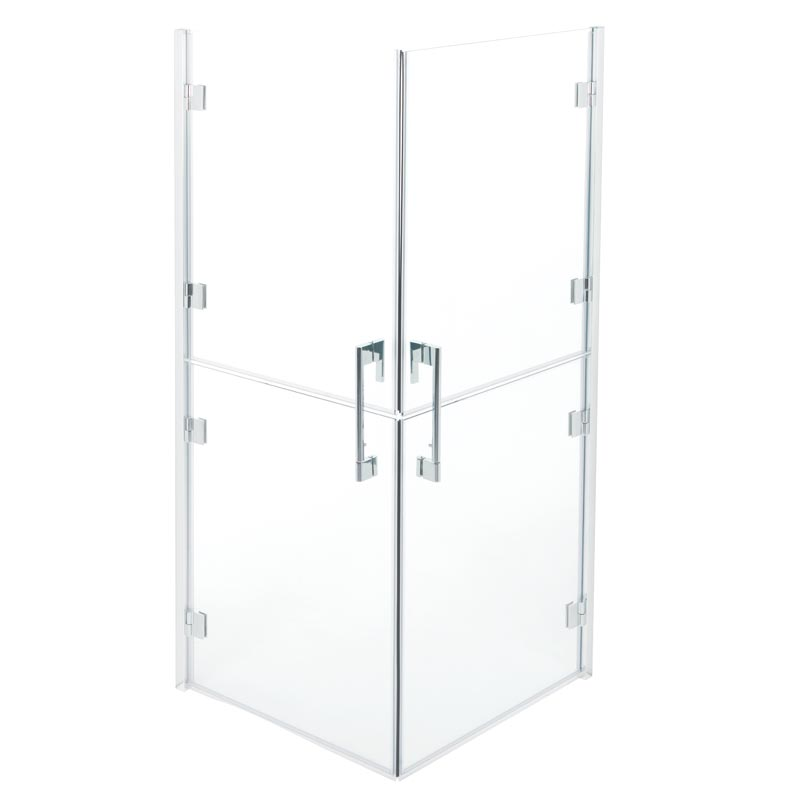 Split doors shower enclosure 90x90 cm.
