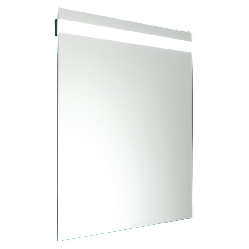Tilting mirror, 5 mm. thick, with integrated LED lighting system