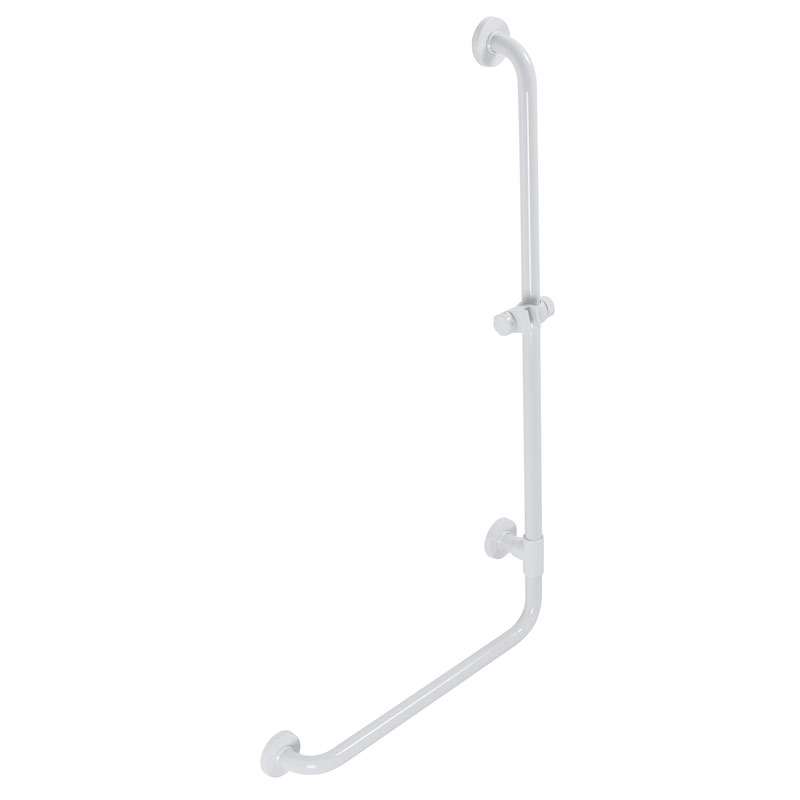 Draw Safety grab bar, corner, 90°, with shower head holder G01JOR01
