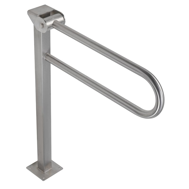 Draw Safety folding grab bar on floor mounted pedestal G55JCS16