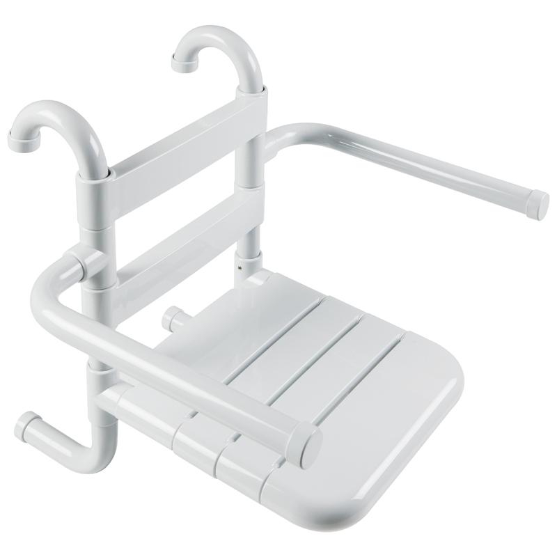Disegno Sedile rimovibile con seduta e schienale a doghe, munito di braccioli ribaltabili G01JDS16