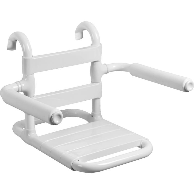 Disegno Sedile rimovibile con seduta e schienale a doghe, munito di braccioli ribaltabili completi di poggia-braccia morbidi G03JDS26