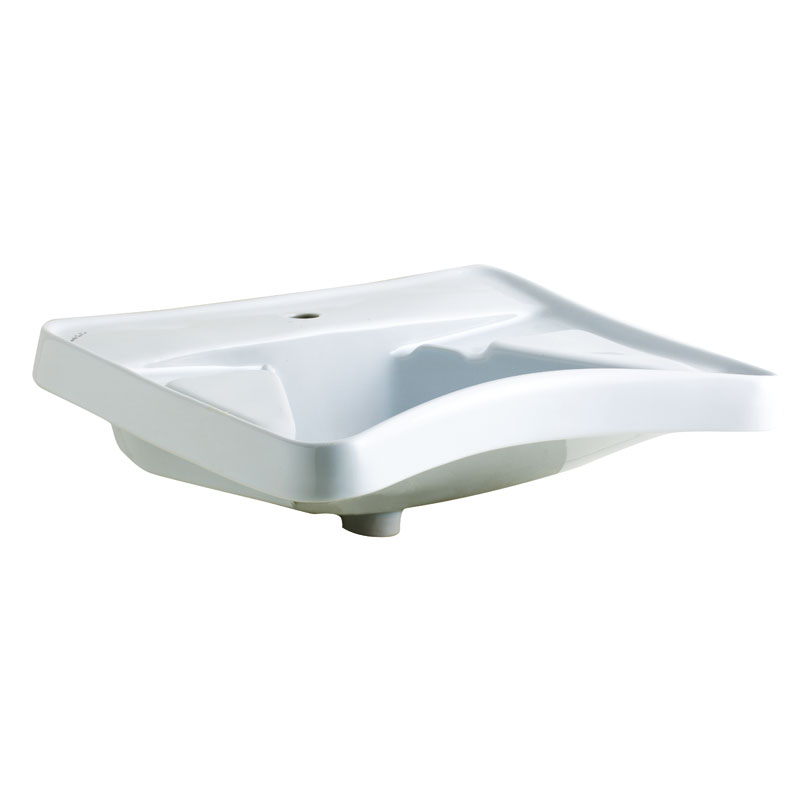 Ergonomic wash basin with elbow rest