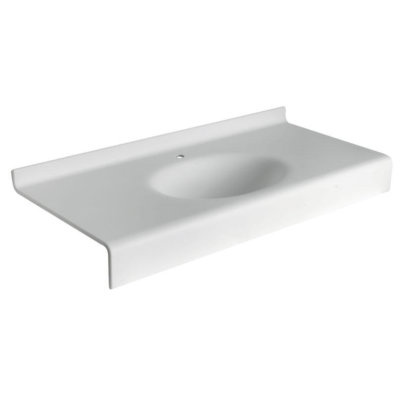 Draw Acrylic stone vanity top basin B46TLM83