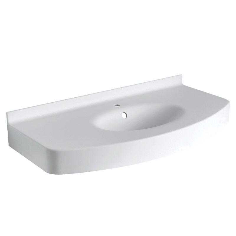 Draw Acrylic stone vanity top basin B46TLM01