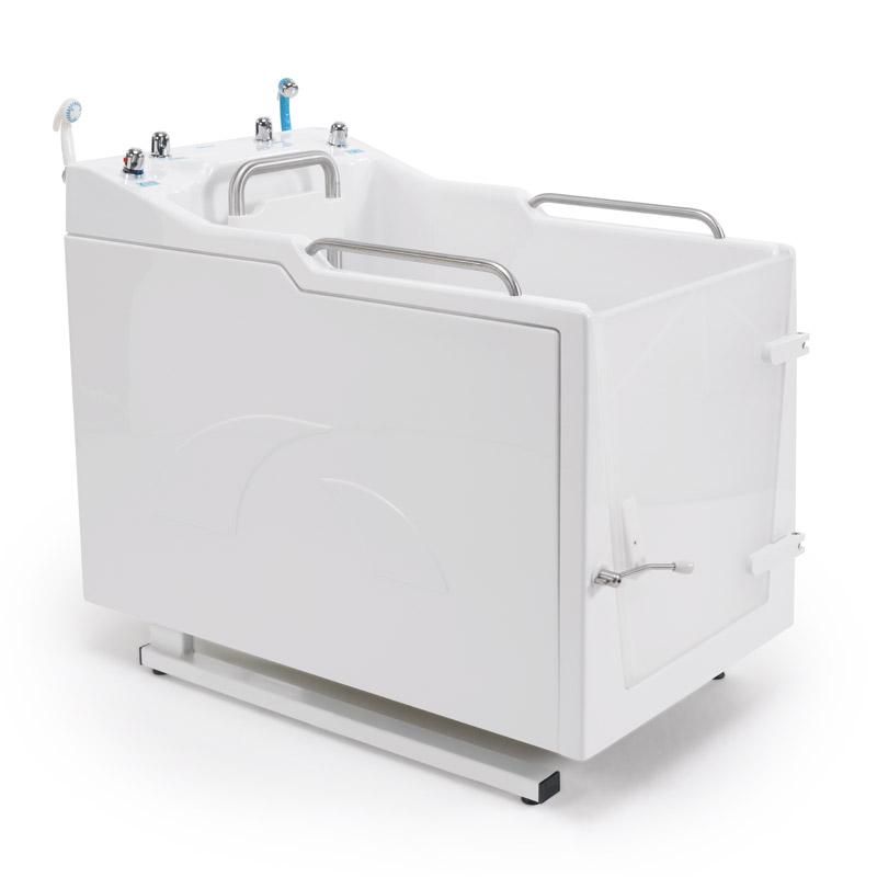 Disegno Vasca doccia a chiusura stagna munita di quadro di comando incorporato, integrata da vaso WC M74MDS04