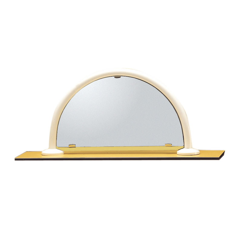 Mirror, safety glass, with holder