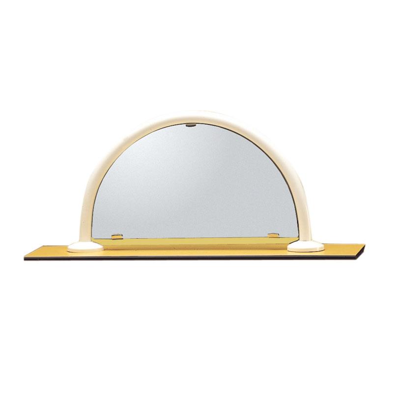 Specchio, in vetro di sicurezza, con telaio ferma specchio