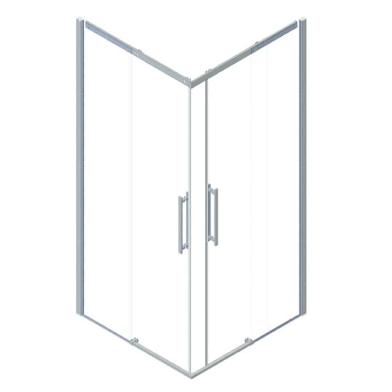 Box doccia con apertura a scorrimento, 90x90 cm.