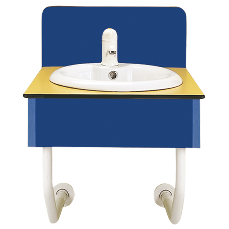 Wall hung wash basin supporting module