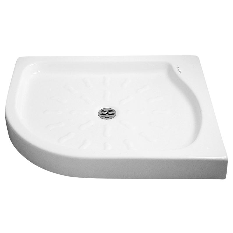 Piatto doccia con angolo tondo, con dimensioni e forma salva spazio