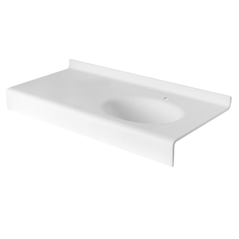 Acrylic stone vanity top basin