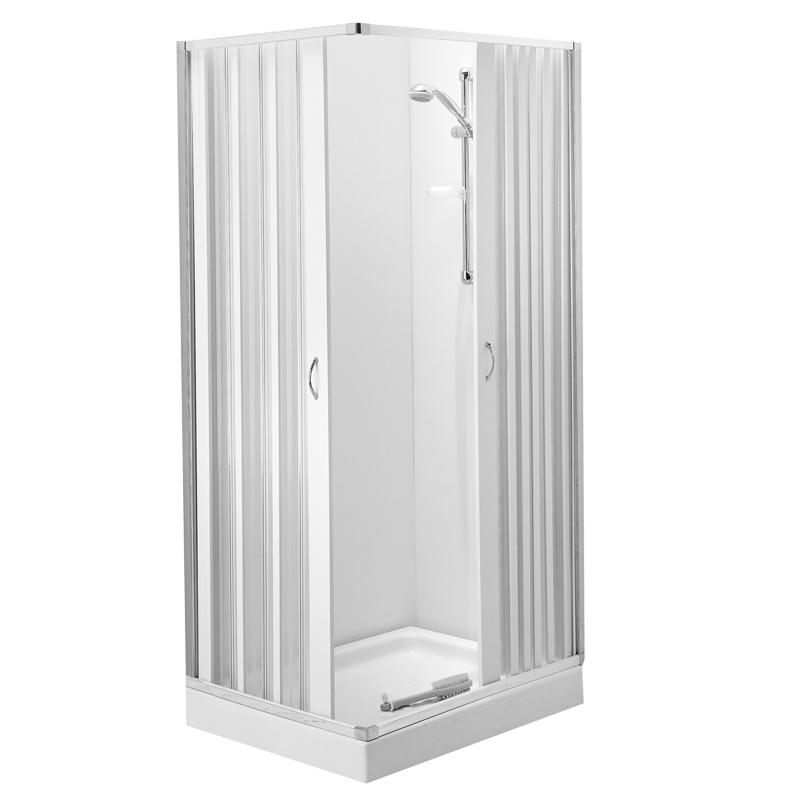 Box doccia ad angolo a persianella