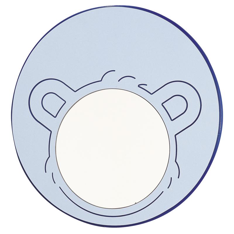 Disegno Specchio, in vetro di sicurezza, con cornice decorata a testa di orso F41ATS02