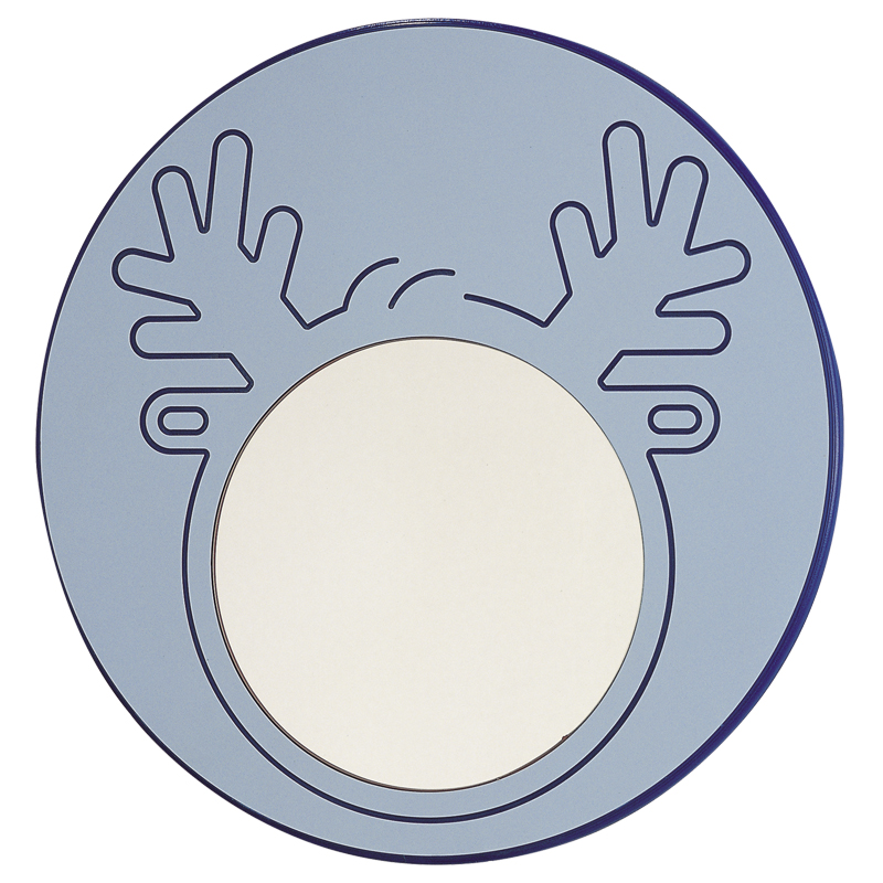 """Mirror with """"elk"""" character engraved decoration - F41ATS05"""
