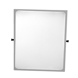Tilting mirror with edge in Rilsan® painted steel