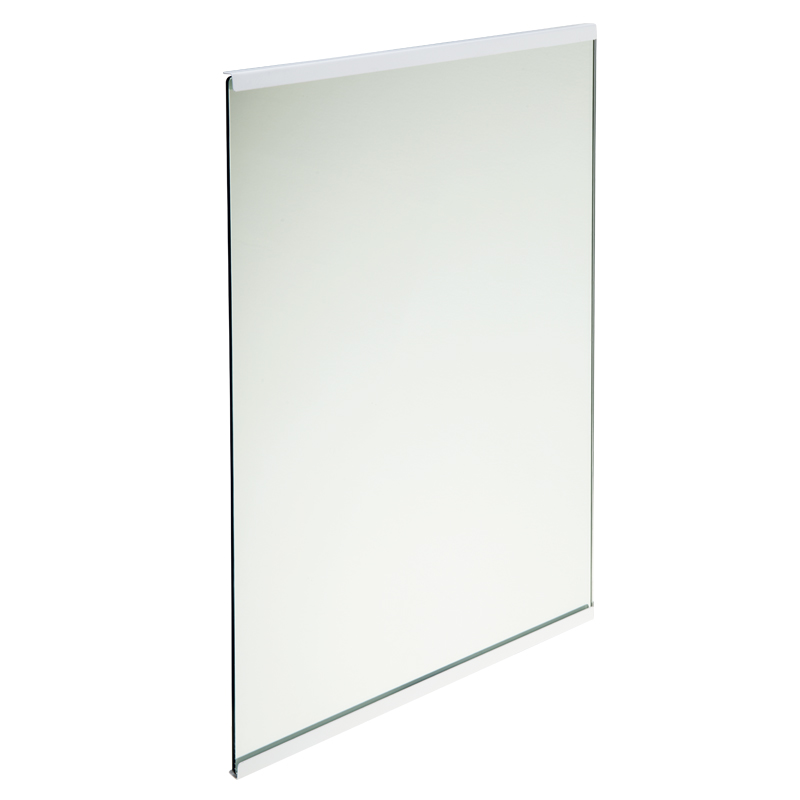 Tilting mirror with painted edges