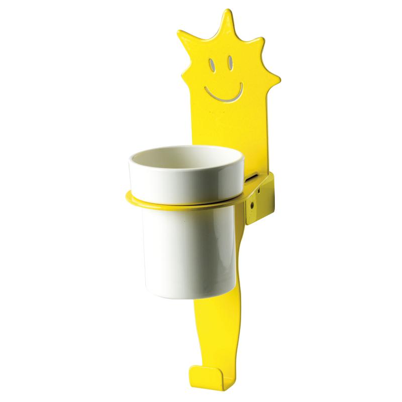 Disegno Porta bicchieri con gancio porta telo, figura stella F44ALS01