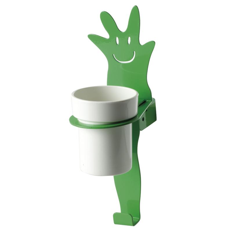 """Cup holder module towel hook, """"leaf"""" shape"""