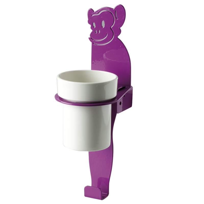 """Cup holder module towel hook, """"monkey"""" shape"""