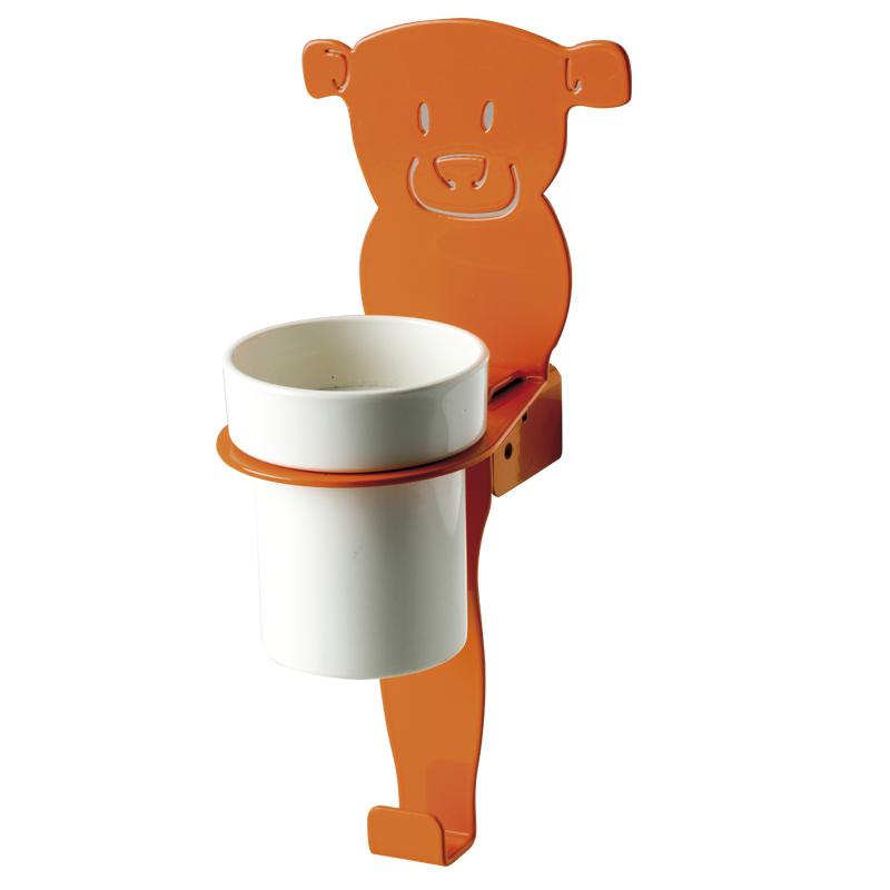 "Cup holder module towel hook, ""bear"" shape"