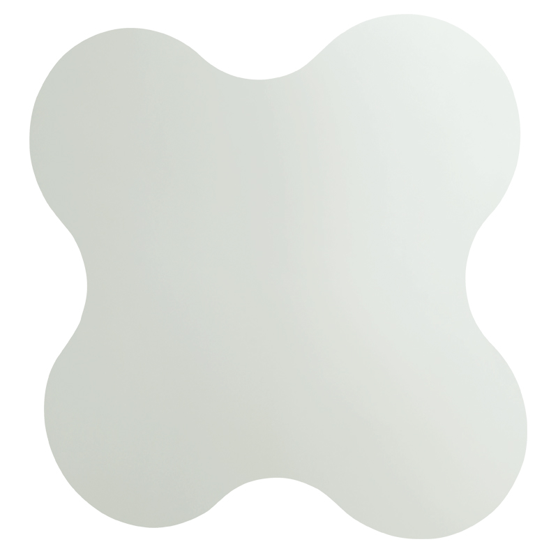Frameless flower shaped mirror in safety glass - F44ATS02