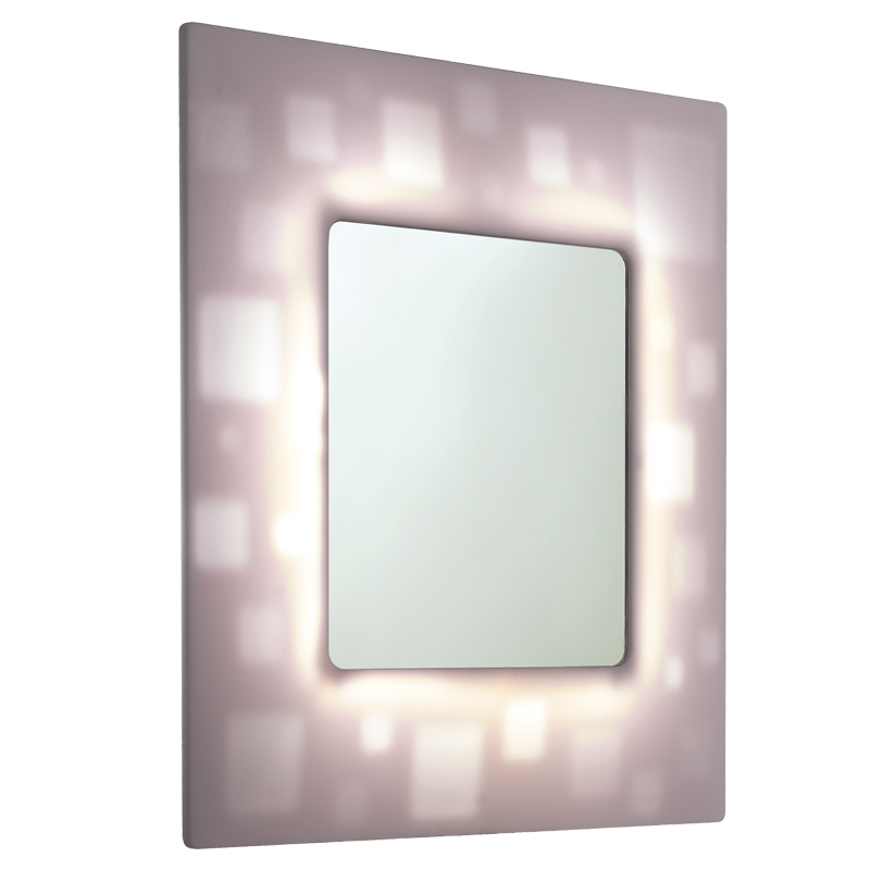 Mirror with backlit translucent frame