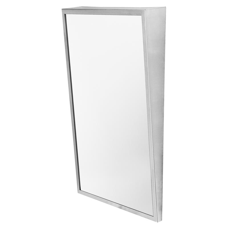 Specchio inclinato con cornice in acciaio inox - Lucidatura acciaio inox a specchio ...