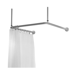 shower curtain rail ushaped