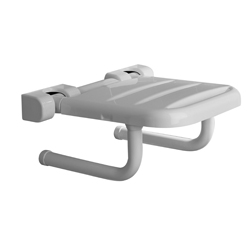 Folding seat with white ABS base