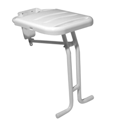 Folding seat with white ABS base and floor supporting frame
