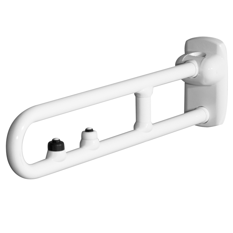 Safety folding side swivel grab rails with with two