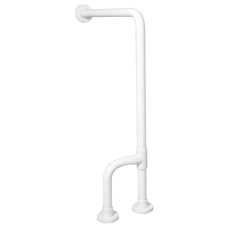 Wall-to-floor safety grab bar