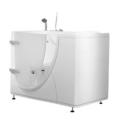 Walk-in bathtub with external opening door