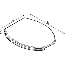 Disegno Sedile con copri sedile con apertura frontale. Disegno Tecnico B41DEO42