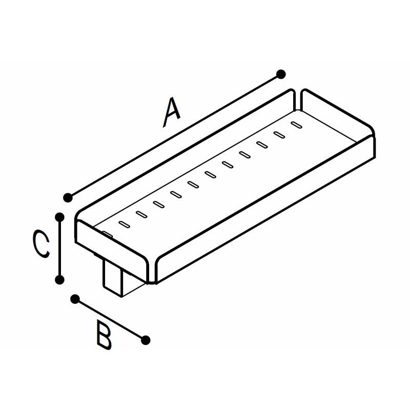 Disegno Mensola Disegno Tecnico F18ANS02