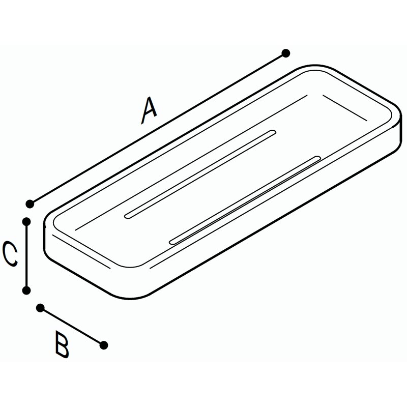 Draw Tray in acrylic stone Technical Drawing F18ANM05