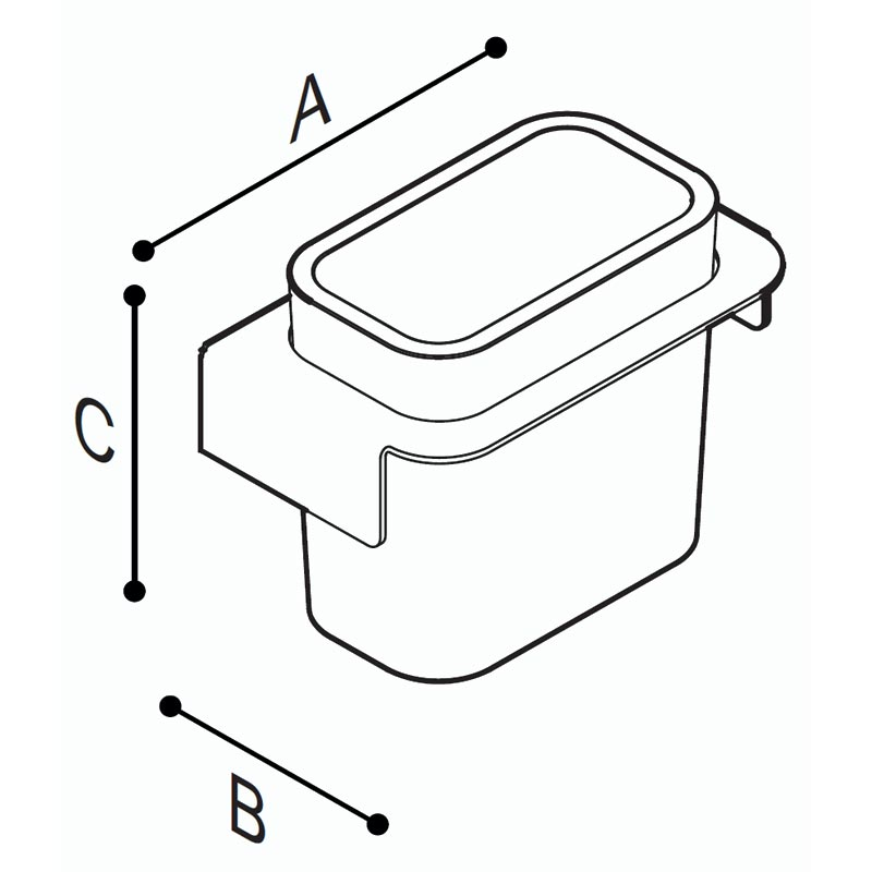 Draw Box container for various items Technical Drawing F18ALS01