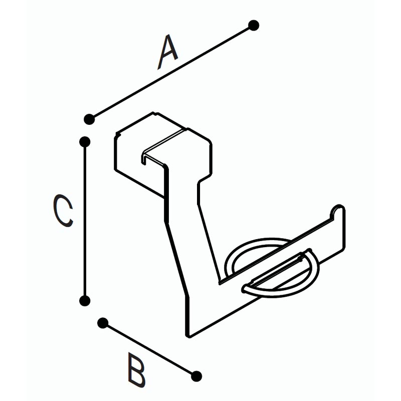 Draw Toilet roll holder for wall fixing Technical Drawing F18AGL02