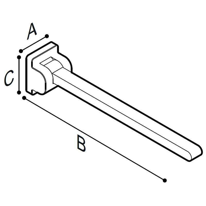 Disegno Sostegno ribaltabile, 60 cm. Disegno Tecnico G18JCS07